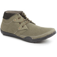Foot N Style Men's Green Lace-Up Casual Shoes