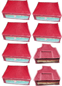 Combo Deal-Multipurpose 6Pcs Saree Cover And 2Pcs Blous