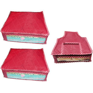 Combo deal-Multipurpose 2Pcs Saree Cover And 1Pcs Blouse Cover
