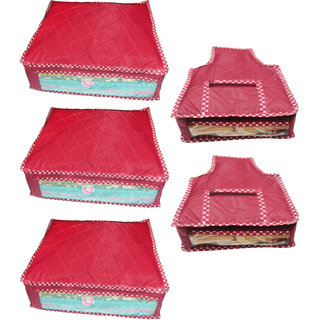 Combo deal-Multipurpose 3Pcs Saree Cover And 2Pcs Blouse Cover