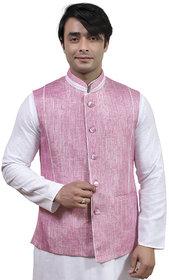 Rajwada Nehru/ Modi Ethnic Jute Jacket For Men (JK09920P44)