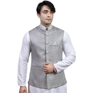 Rajwada Nehru/ Modi Ethnic Jute Jacket For Men (JK09920Y44)
