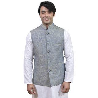Rajwada Nehru/ Modi Ethnic Linen Jacket For Men (JK10214S44)