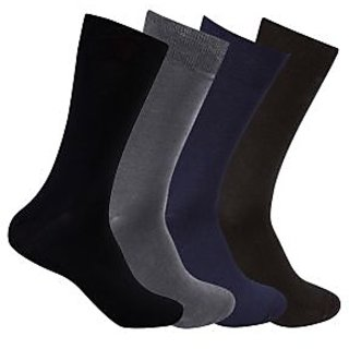 Supersox Pack Of 4 Plain Mercerized Cotton Socks (MMCP0019)