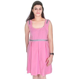Selfi Pink with open back  Dress Design party ware Dress for Girls_JVD0096