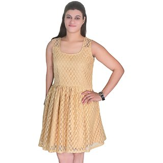Selfi Stnthetic Net Dress Design party ware Dresses for Women And Girls_JVD0097