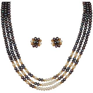 Classique Designer Jewellery Winsome Pearl Necklace Set (cp173)