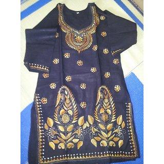 calcutta cotton hand work kurti