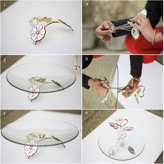 Decorative Crystal Serving Tray for dry food tray