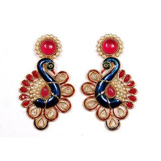 Sunehri Peacock Ethnic Earrings