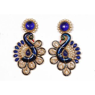 Sunehri Peacock Ethnic Earrings