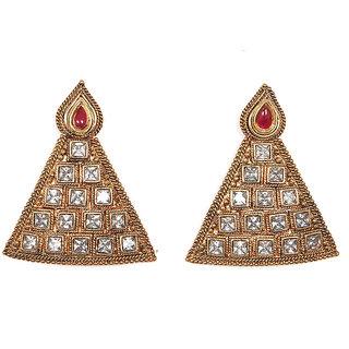 Sunehri Polki Tribal Earrings
