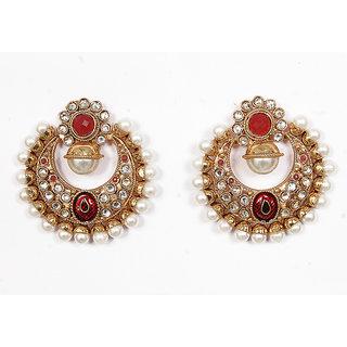 Sunehri Kundan Traditional Earrings
