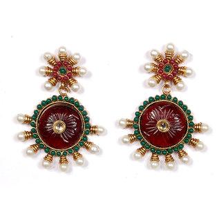 Sunehri Pearl Crafted Kundan Earrings