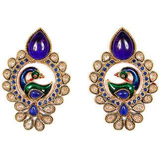 Sunehri Multicolor Peacock Earrings