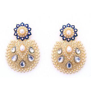 Sunehri Kundan Classic Earrings