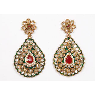 Sunehri Meenakari Kundan Earrings