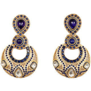 Sunehri Royal Blue Earrings