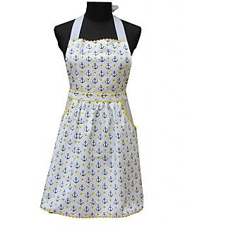 Red Roses Majestic Yellow Printed Apron