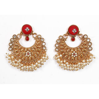 Sunehri Cherry and Pearl Earrings