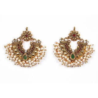 Sunehri Pearl Traditional Earrings