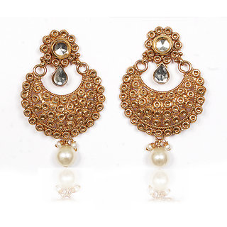 Sunehri Kundan Gold Earrings