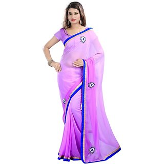 purple color  HANDWORK SAREE SARI 631