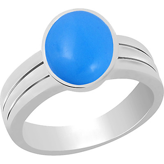 5 Ratti Natural Turquoise (Firoza) Gemstone Silver Ring