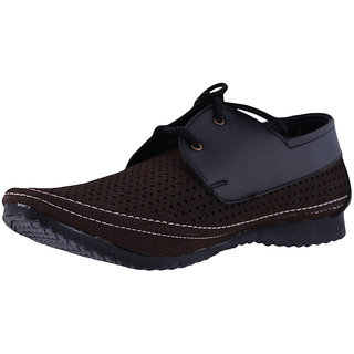 Men's Faux suede leather Brown Casual Shoes