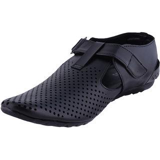 Men's Faux leather Black Casual Shoes