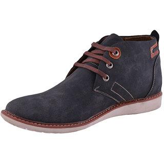 Men's Faux suede leather Black Casual Shoes