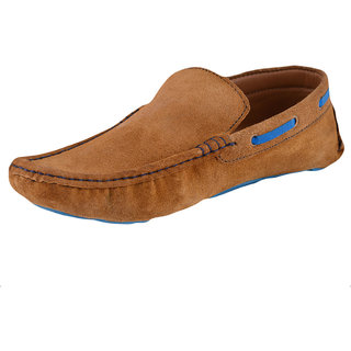 Men's Faux suede leather Tan Loafers