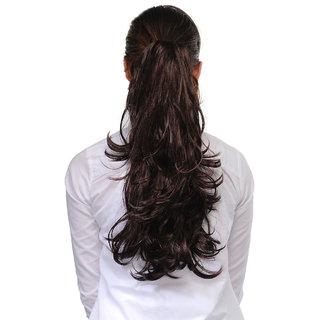 Homeoculture Burgandy 18inches Designer Hair Extension | 004833