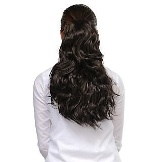 Homeoculture Black 18inches Designer Hair Extension to look glamorous | 00482