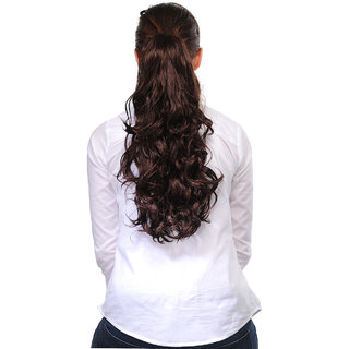 Homeoculture Burgandy 18inches Designer Hair Extension to look glamorous | 00493