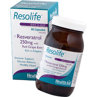 HealthAid Resolife (Resveratrol 250mg With Red Wine Extract) 60 Capsules