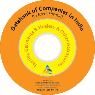 PACD-021 Databank of Companies Textile, Garments  Hosiery  Other Accessories 23,000 Entries