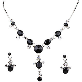 Urthn Black Necklace Set - 1102811