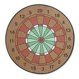 Welkin Wooden Dart Board With Dart Pins With Three Extra Free Dart Pins