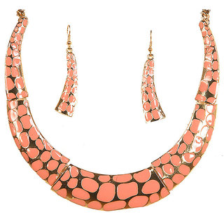 Urthn Orange Necklace Set - 1103029