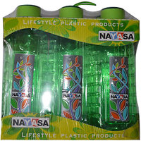 Nayasa Square Water Bottle (Set of 6)