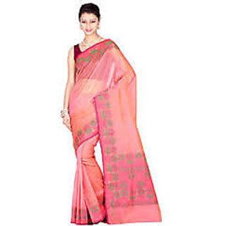 Chandrakala Silk Blend Pink Saree