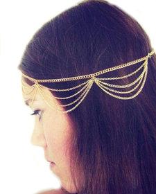 Tiara Tassles head Chain Accessory Golden Princess Women