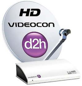 Videocon d2h HD Set Top Box with 12 Months New Gold Sports pack & 12 months HD A