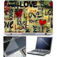 Finearts Laptop Skin Love Month Yellow With Screen Guar