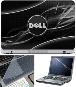 Finearts Laptop Skin 15.6 Inch With Key Guard & Screen Protector - Dell White Rays
