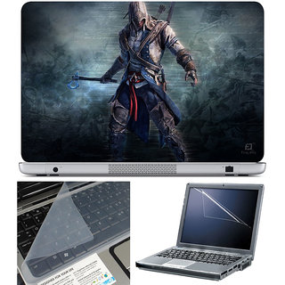 Finearts Laptop Skin 15.6 Inch With Key Guard & Screen Protector - Assasin Hammer