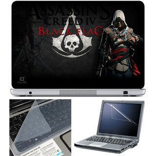Finearts Laptop Skin 15.6 Inch With Key Guard & Screen Protector - Assasin Black Flag