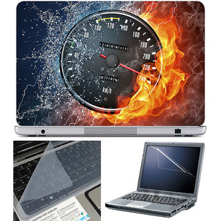 Finearts Laptop Skin 15.6 Inch With Key Guard & Screen Protector - Meter Fire Water