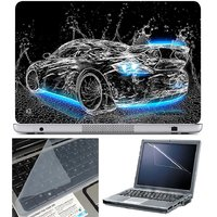 Finearts Laptop Skin Car Water Blue On Bottom With Scre